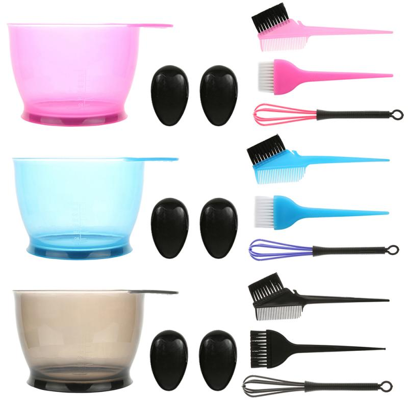 1set Simple Hair Dyeing Set Hair Color Dye Bowl Comb Brushe Tool Kit Dye Mixer Hair Tint Dying Coloring Applicator Salon Tool