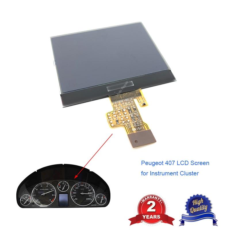 Otomobiller ve Motosikletler'ten Gösterge Setleri ve Gösterge Panelleri'de Enstrüman küme Dashboard LCD yedek parça ekran Peugeot 407 için 407SW HDI çift ekran onarım title=