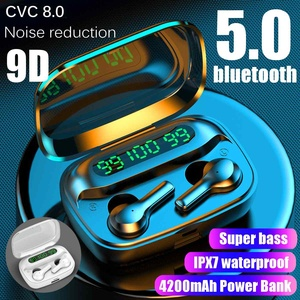 bluetooth 5.0 Earphones 4200mAH Charging Box Wireless Headphone 9D Stereo Sports Waterproof Earbuds Headsets With Microphone