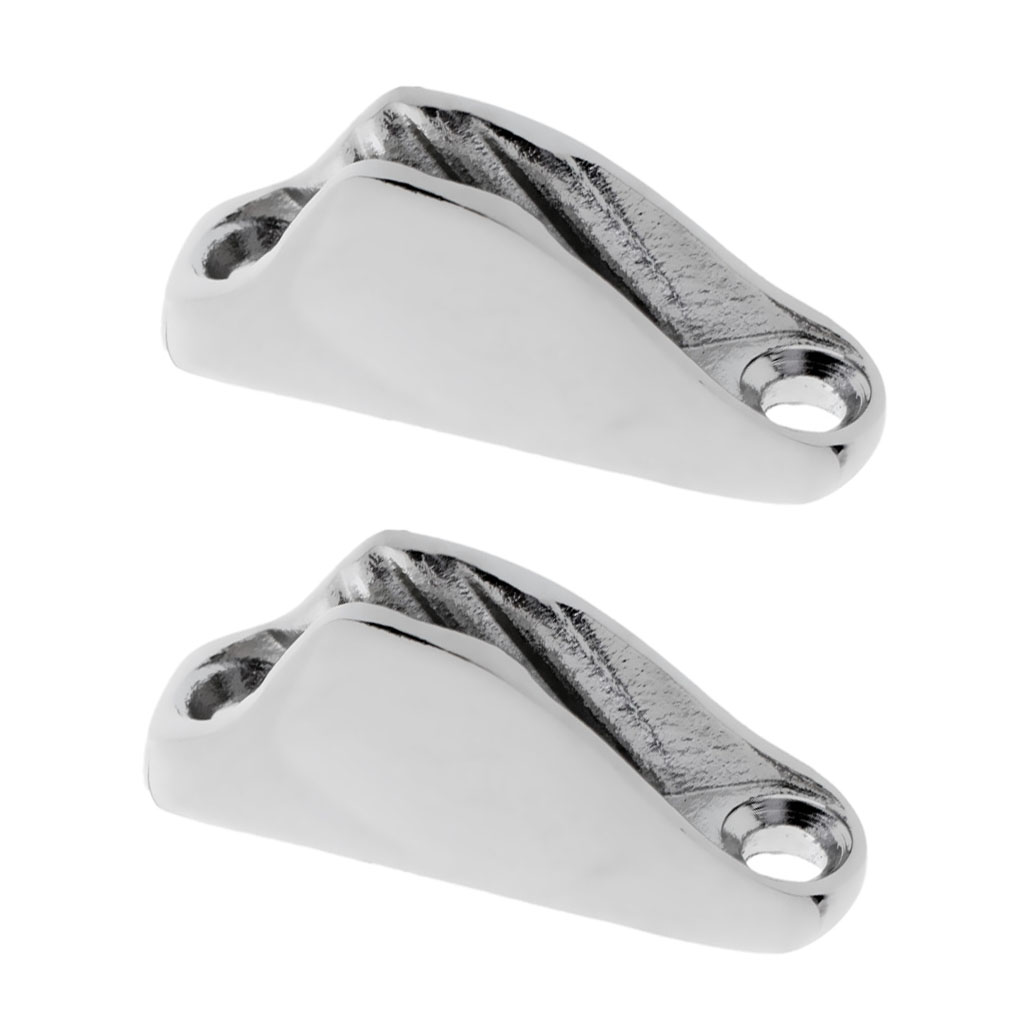 2pcs Strong Boat Rope Clam Cleat - Marine 316 Stainless Steel Hardware
