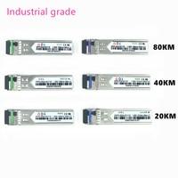 Classe industrial do módulo da fibra ótica do lc sfp-40 celsius + 80 celsius 1.25g20/40/80 km 1310/1490/1550nm single-sfp módulo ótico compatível