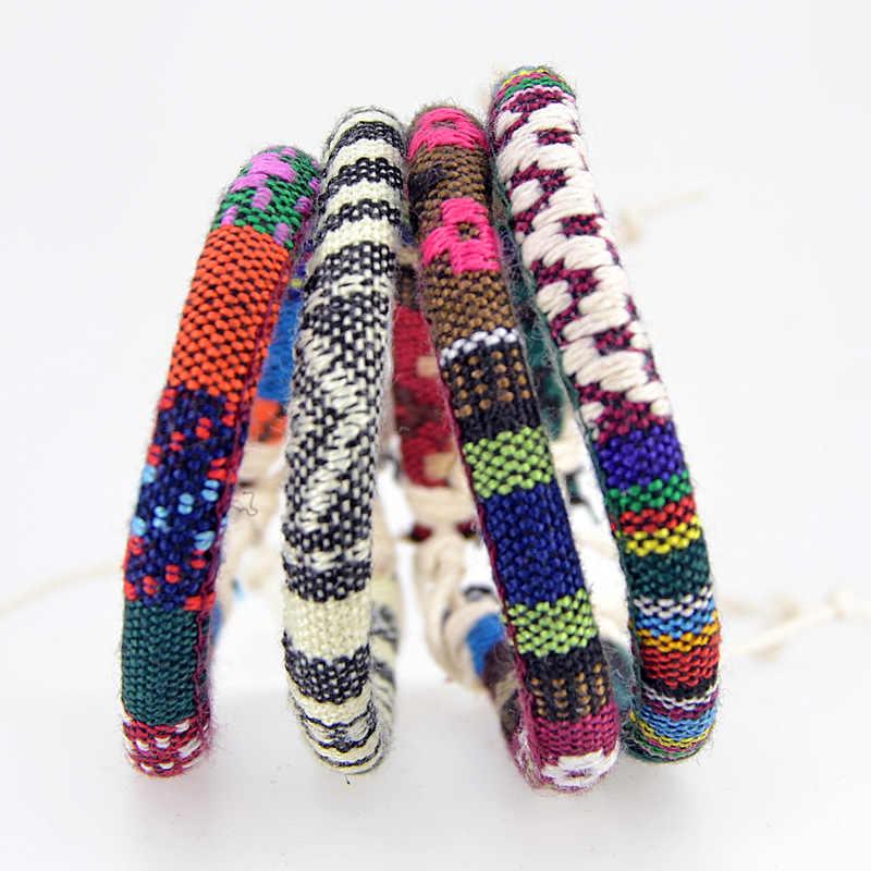 Pulseras y brazaletes con diseño tradicional amuleto de la suerte para mujeres y hombres, pulsera trenzada hecha a mano con cuerda de regalo de la suerte