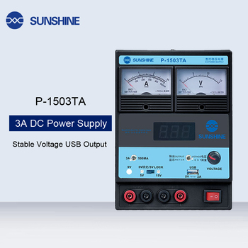 P-1503TA 3A DC Regulated Power Supply Laboratory Test DC Power Supply Adjustable USB Charging Repair Switching Power Supply