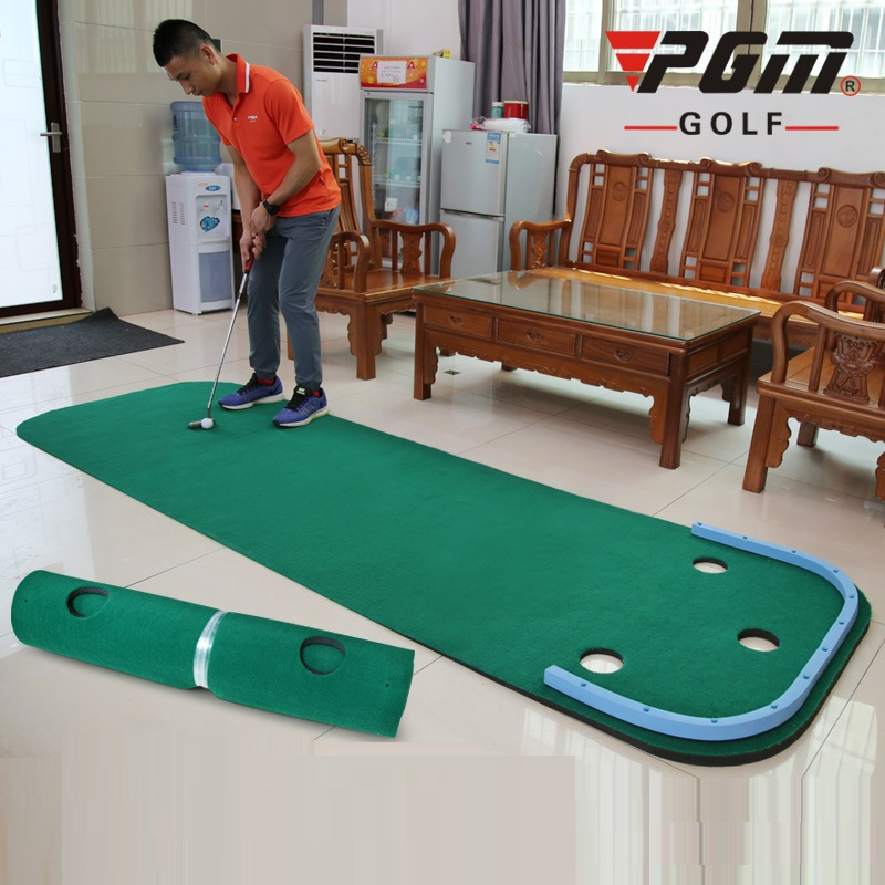 PGM Mini Golf Putting Green Protable Golf Practice Trainer Mat Practice Blanket Golf Set Training Aids Tool D0894