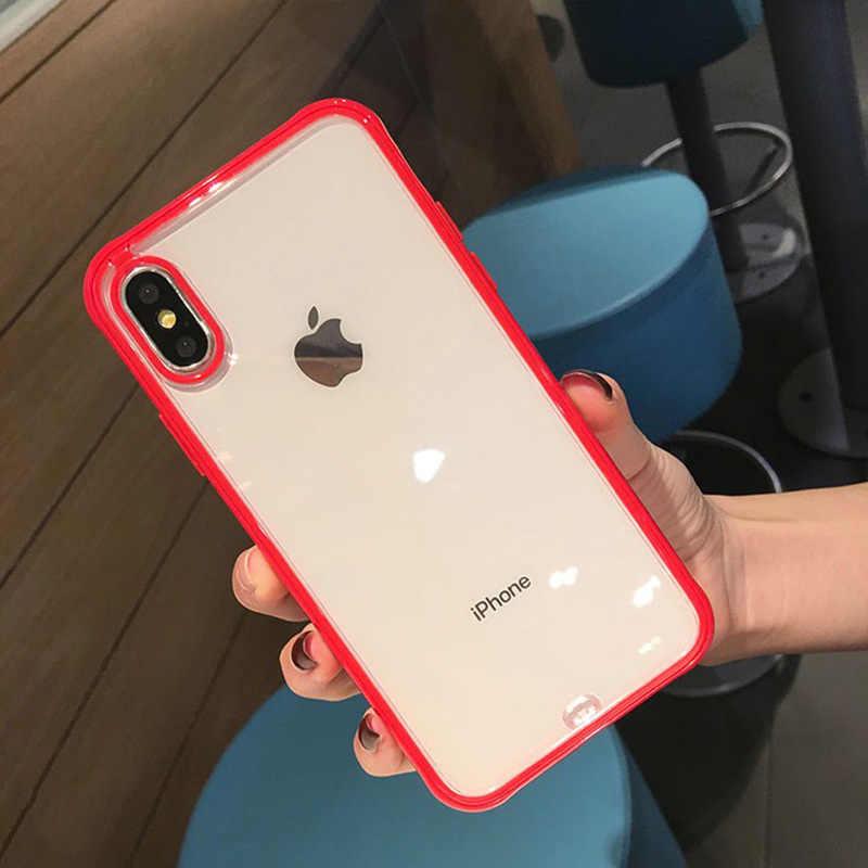 أزياء جاهزة حقيبة لهاتف أي فون 11 برو ماكس XR X XS ماكس واقي tpu خزائن هاتف آيفون 8 6s 7 X شفافة غطاء سيليكون