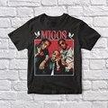 Винтажная черная футболка унисекс Migos 90
