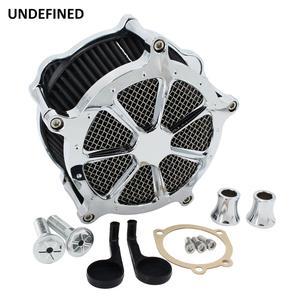 Image 3 - Preto cnc filtro de ar da motocicleta venturi corte sistema de admissão de ar mais limpo para harley sportster ferro 883 xl1200 xl883 48 72 1991 2019