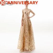 OLLYMURS, ropa de otoño con brillo dorado, ropa con mangas largas, silla Simple Retro, vestido Formal de fiesta, vestido de noche