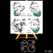 AZSG Christmas Animal Lovely Clear Stamps/Stamp/For Scrapooking/Card Making/Silicone Stamps/Decoration  Crafts