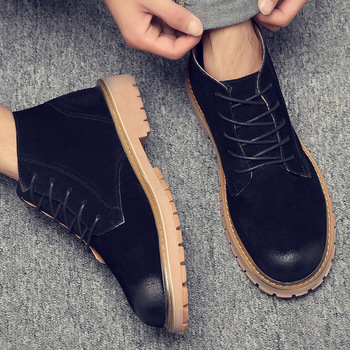 England style men vintage military boots worker cow leather tooling shoes outdoors ankle desert boot zapatos de hombre botas man