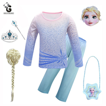 Kids Costumes Girls Party Dress Elsa Cosplay Halloween Costume for Kids Princess Costumes Carnival Clothes Children Queen Crown halloween costumes for girls princess dress kids vampire clothes cosplay bat set for party outfit boys costume children clothing