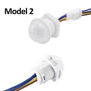 Image 3 - Vertraging Verstelbare 110V 220V Zeer Gevoelige Auto On/Off Pir Infrarood Motion Sensor Switch Mode detector Lichtschakelaar