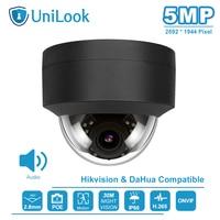 UniLook (Hikvision متوافق) 5MP قبة POE IP كاميرا المدمج في هيئة التصنيع العسكري في/في الهواء الطلق الأمن IR 30m H.265 CCTV فيديو مراقبة ONVIF