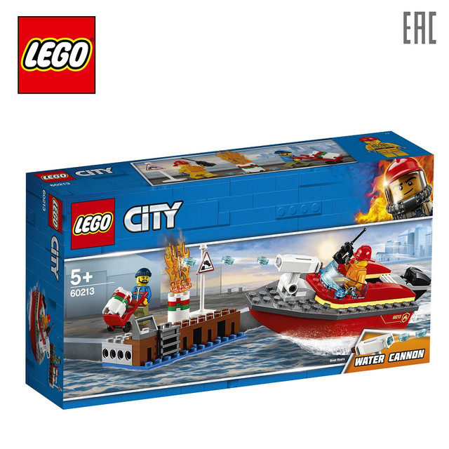 Конструктор LEGO City Fire 60213 Пожар в порту