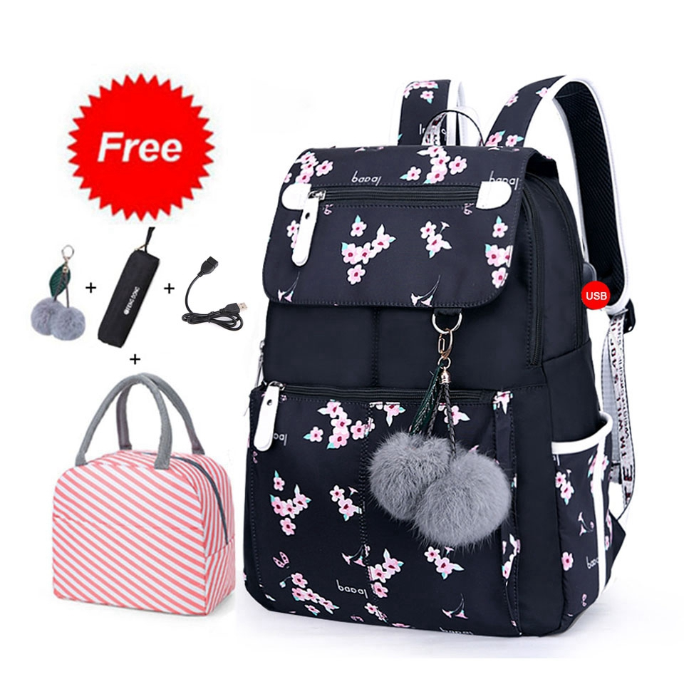 New 2021 Back to School Backpacks For Girls Kids Primary Middle School Bags Set Bookbag Waterproof Children Mochila Escolar