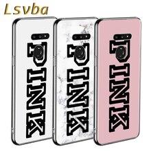 Línea rosa de estilo de lujo para LG W20 W10 V50S V50 V40 V30 K50S K40S K30 K20 Q60 Q8 Q7 Q6 G8 G7 G6 ThinQ teléfono caso