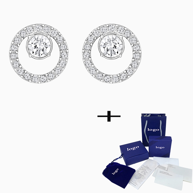 SWA 2020 New High Quality Creativity Circle Pierced Earrings To Send Wife To Send Mother Classic Elegant Romantic Birthday Gift