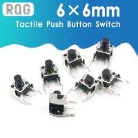Mini interruptor de botón pulsador táctil momentáneo, Panel PCB de 6x6mm, 4 pines, 6x6x4 3/5/6/7 3-25 MM 6*6*6*6*4,3 MM 5 MM 6MM 7MM 8MM - 25 MM