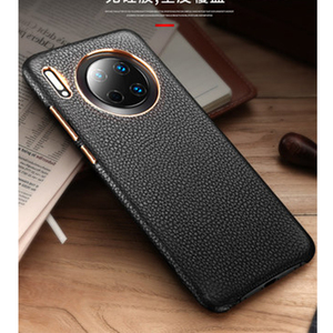 Image 2 - 2019 New Genuine Leather Back Protective Shell Skin for Huawei Mate 30 Case Luxury Accessories for Huawei Mate 30 Pro Funda Capa
