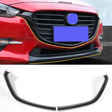 CEYUSOT For Mazda 3 Car grille trim strip 2014 15 16 FRONT Bumper Full Star RACING Grills Cover Trim mazda3 ACCESSORIES GRILL M3(China)