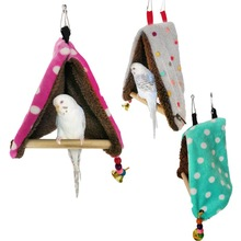 Warm Bird Nest Bed Hammock House Perch for Parrot Parakeet Finch Canary Cage Toy