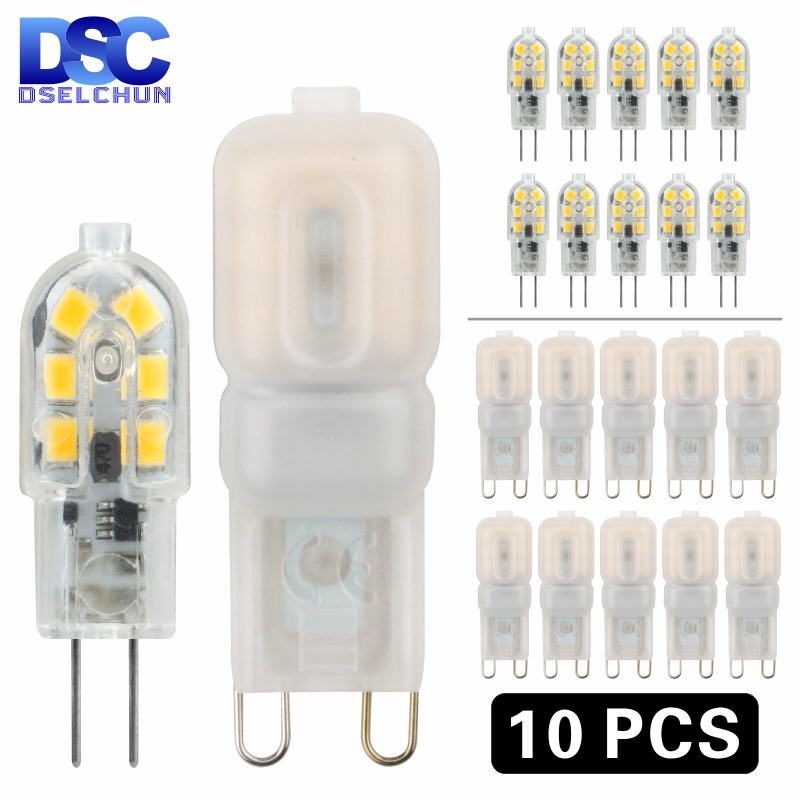 10 pièces LED ampoule 3W 5W G4 G9 ampoule AC 220V DC 12V lampe à LED SMD2835 projecteur lustre éclairage remplacer 20w 30w lampe halogène
