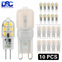 10PCS LED Bulb 3W 5W G4 G9 Light Bulb AC 220V DC 12V LED Lamp SMD2835 Spotlight Chandelier Lighting Replace 20w 30w Halogen Lamp cheap DSELCHUN Cool White(5500-7000K) living room DC12V AC12V AC220V 250 - 499 Lumens 50000 Other Corn Bulb Epistar ROHS 360°