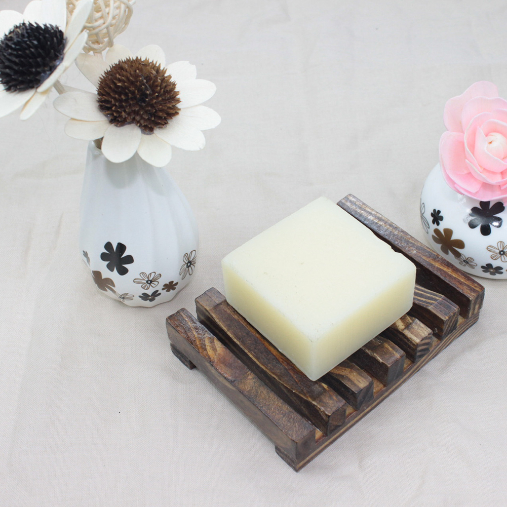 Wooden Natural Bamboo Soap Dishes Tray Holder Storage Soap Rack Plate Box Container Portable Bathroom Soap Dish Storage Box 2