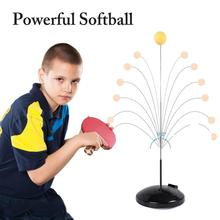 Portable Table Tennis Set Trainer Elastic Shaft Training Machine Fitness for Children Training Ball with Leisure Decompression