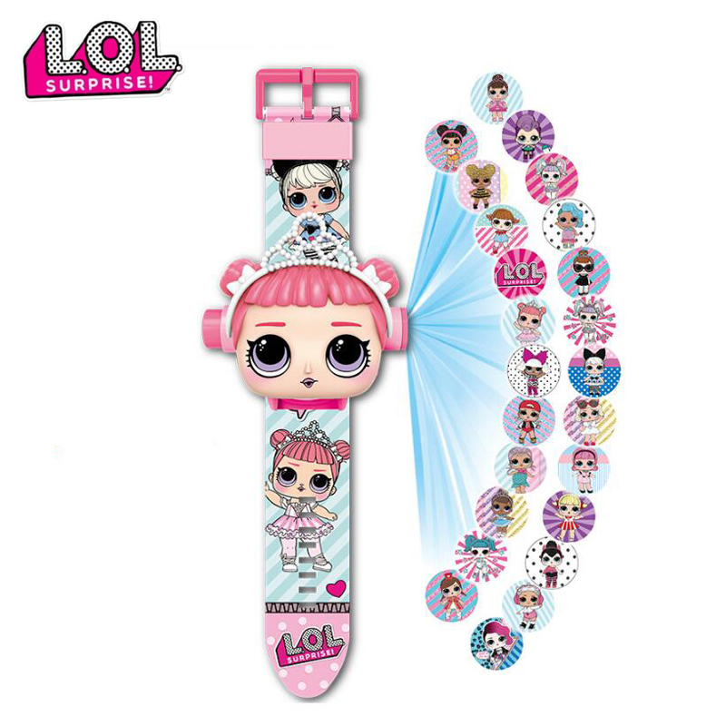 LOL Dolls Surprise 3D Projection Wrist Watches Digital Wristwatch Silicone Watch Cartoon Children Watches Anime Figure Gifts Toy