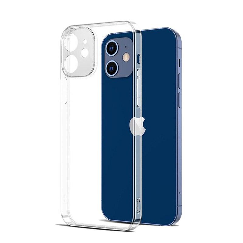 Ультратонкий Прозрачный чехол из ТПУ для iphone 12 Mini X XR XS 11 Pro Max, полное покрытие для iphone SE 7 6 8 Plus, прозрачный силиконовый чехол