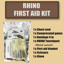 Kit de primeiros socorros rhino para configurar kit de sobrevivência ao ar livre kit de emergência para acampamento, caminhadas ou aventura ao ar livre engrenagem ifak