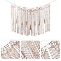 Macrame Wall Hanging Purely Hand Woven Wedding Party Background Hanging Curtain Bohemian Tapestry Home Decor