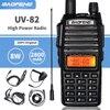 트라이 파워 Baofeng UV-82 8W 고출력 워키 토키 듀얼 밴드 VHF/UHF 휴대용 양방향 햄 CB 라디오 UV82 아마추어 UV 82 인터폰