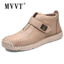 Мужские ботинки из микрофибры; Модные ботильоны размера плюс;