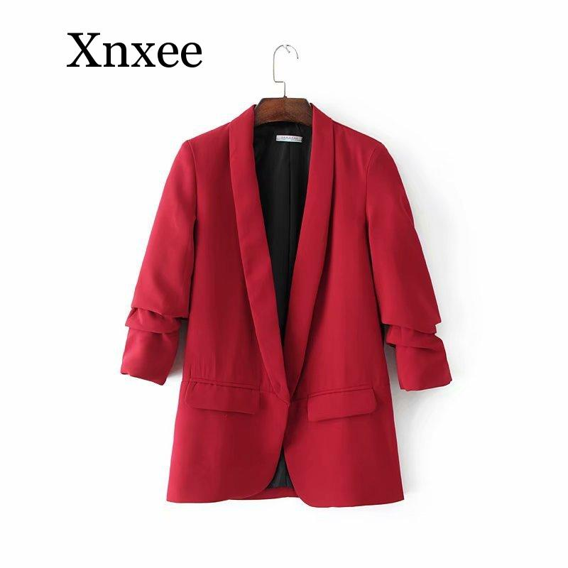 advanced audition womens blazers green white  long sleeve pockets office lady  notched solid color cool winter autum spring
