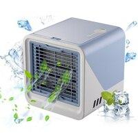 Ev Aletleri'ten Fanlar'de Sıcak TOD Yeni 2019 HAVA SOĞUTUCU Küçük Klima Aletleri Mini Hava Soğutma Fanı Yaz Taşınabilir Klima ev ofis için