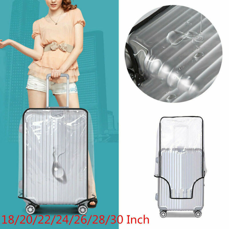 New Fashion Waterproof Transparent Protective Luggage Suitcase Cover Case Travel Universal