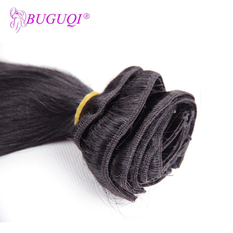 BUGUQI человеческие волосы на заколках для наращивания, индийские натуральные волосы Remy 16-26 дюймов, 100 г, человеческие волосы для наращивания на заколках