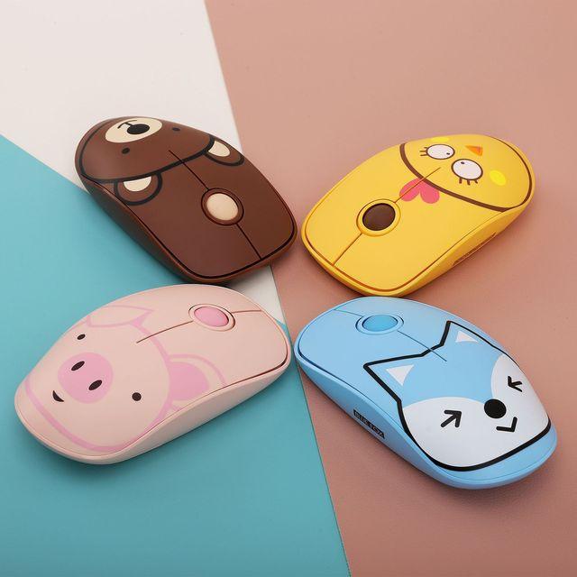 Brand New Wireless Mouse Computer Accessories Creative Novelty Pink Girl Optical Mouse Portable Mini Mute 2.4Ghz Gaming Mouse 1