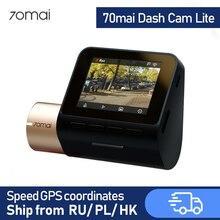70mai Cámara de salpicadero Lite con GPS para coche, Dashcam con GPS, WIFI, 24H, Monitor de aparcamiento, grabadora de vídeo, 1080P, HD, visión nocturna, cámara de salpicadero era
