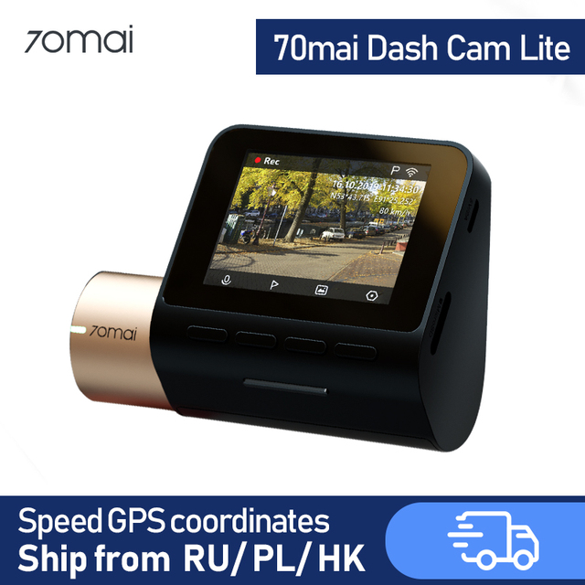 70mai דאש מצלמת לייט GPS רכב DVR WIFI Dashcam 24H חניה צג וידאו מקליט 1080P HD ראיית לילה דאש מצלמה