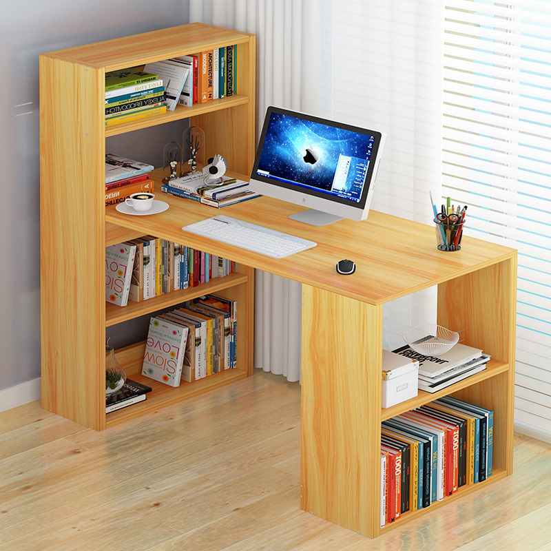 Computer Desk Bookcase Desk Combination One-piece Table Desktop Home Computer Desk Student Household Economical