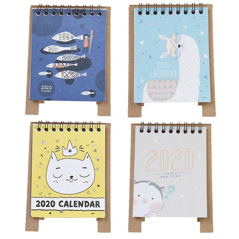 2020 Cute Cartoon Desktop Paper Calendar Multi-function Timetable Plan Notebook Desktop Hot