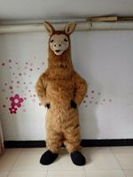 Halloween Party Llama Animal Fursuit Furry Mascot Costume Suit Cosplay Party Dress Outfit Advertising Birthday Party Costume