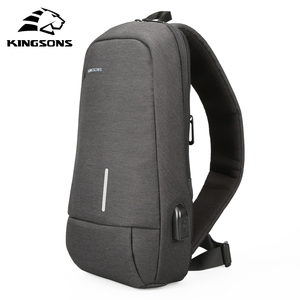 Image 1 - Kingsons New Small Backpack Leisure Travel Single Shoulder Backpack 7.9 inch Chest Backpack For Men Women Casual Crossbody Bag