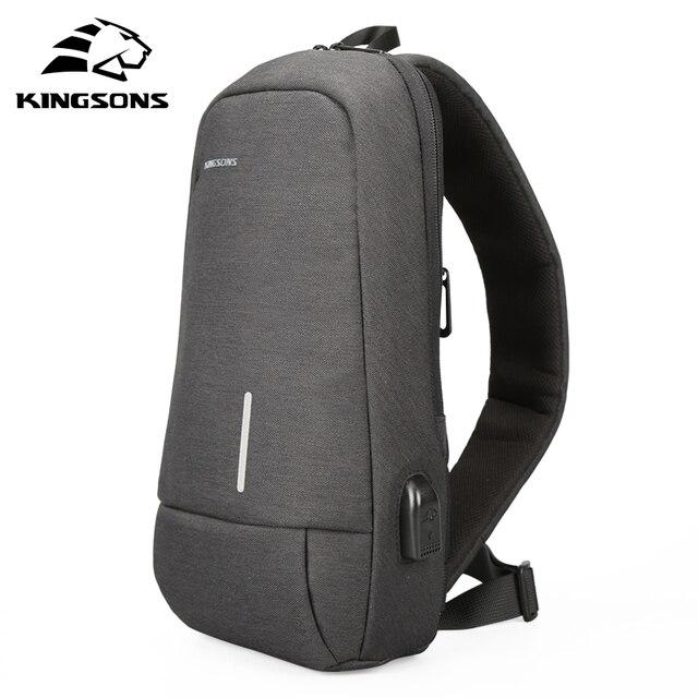 Kingsons New Small Backpack Leisure Travel Single Shoulder Backpack 7.9 inch Chest Backpack For Men Women Casual Crossbody Bag
