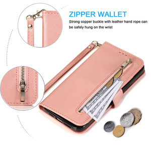 Image 3 - Zipper Wallet Case For Samsung Galaxy S21 S20 FE S10 S9 S8 Ultra Plus Note 20 10 9 8 S7 Edge Flip Leather Cards Phone Bags Cover