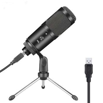 Metalowy mikrofon do nagrań pojemnościowych USB do laptopa MAC lub Windows kardioidalny głos nagrywania studyjnego wokalu przez YouTube live show tanie i dobre opinie Blat Mikrofon pojemnościowy Mikrofon komputerowy Pojedyncze Mikrofon Kardioidalna Przewodowy