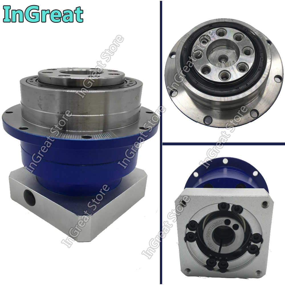 10:1 Presisi Tinggi 3Arcmin Flange Output Planetary Gearbox Reducer 10 Helical Gear untuk 86 NEMA34 86 Mm Stepper Motor 14 Mm CNC